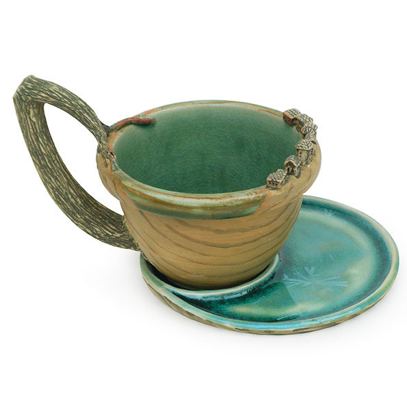 Cup and Saucer  – Houses on a Lake