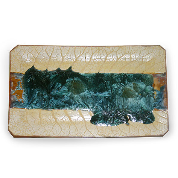 Rectangular Plate with Leaf Texture